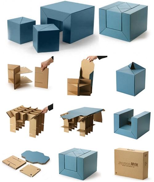 Детская мебель из картона и бумаги