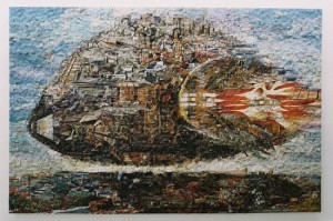 Gerhard Mayer puzzle collages2 550x366 300x199 Коллажи из мозаики