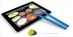 conductive picks and sticks 300x155 Барабаны для iPad